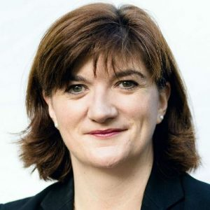 Nicky Morgan looking at the camera
