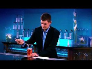 first dates barman and mixology expert Merlin Griffiths working with Sapphire Gin